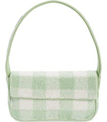 staud tommy beaded shoulder bag - green