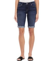 women's mavi jeans karly cutoff denim bermuda shorts, size 24 - blue
