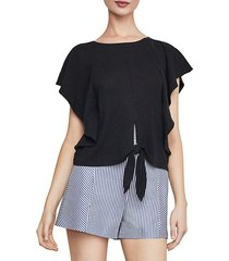 tie-front cropped top