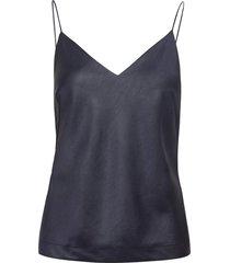 ellie top t-shirts & tops sleeveless blauw filippa k