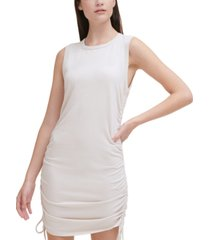 calvin klein jeans cinched-side sleeveless dress