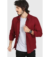 camisa bordó levi's classic no pocket - crimson-black little plaid