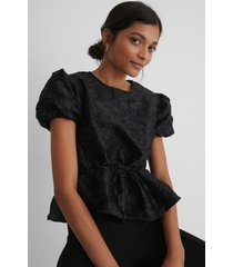 na-kd party structured drawstring top - black
