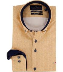 overhemd portofino mouwlengte 7 geel visgraat
