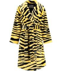 chrystal eco-fur coat