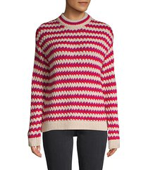 striped roundneck sweater
