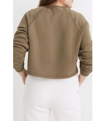 women's madewell mwl airtyterry crop sweatshirt, size x-large - green