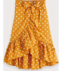 scotch & soda polka dot wrap skirt