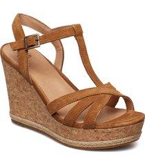 w melissa sandalette med klack espadrilles brun ugg