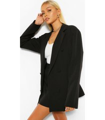 tailored long line oversized dad blazer