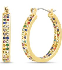 casted hoop earrings with stones