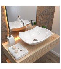 cuba apoio para banheiro trevalla lux l42 abaulada