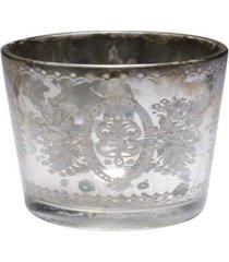 cachepot vela pcock- pashmina- prata