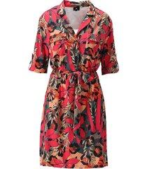 k-design jurk zakken studs and fuchsia print