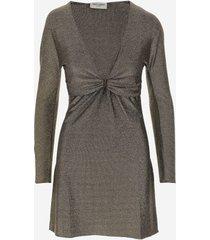 saint laurent designer dresses & jumpsuits, lurex women's wrap dress