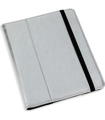 graphic image ipad leather case holder - silver