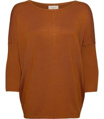 fqj -pu stickad tröja brun free/quent