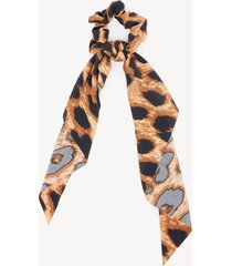 women's leopard print scarf pony dark brown from sole society