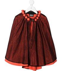 infantium victoria organic cotton mesh cape - red