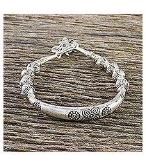 950 silver beaded bracelet, 'harmony of nature' (thailand)