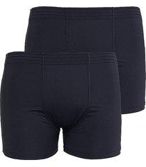 kit 2pçs cuecas boxer microfibra linha noite 607 preto