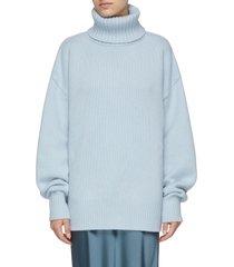 turtleneck oversize cashmere sweater