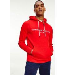 tommy hilfiger men's organic cotton classic logo hoodie fireworks - xs