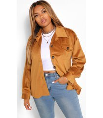 jumbo cord oversized jacket, tan