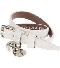 alexander mcqueen buckle-strapped bracelet