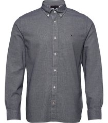 melange dobby shirt overhemd casual blauw tommy hilfiger