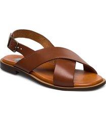 cross classic square shoes summer shoes flat sandals brun apair