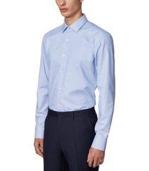 boss men's jesse navy dress shirt