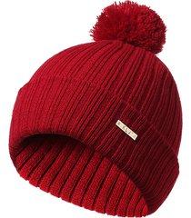 lady winter thickening acrilico warm solid stripe berretto pieghevole per berretto moda