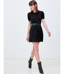 motivi vestito corto con cintura donna nero