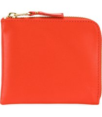 comme des garçons wallet zip around purse - yellow