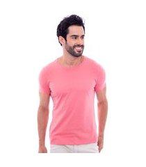 camiseta básica masculina rosa