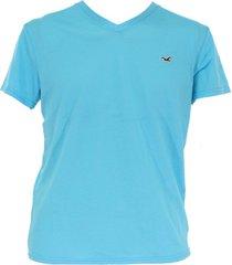 camiseta hollister hombre - azul