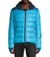 bogner fire + ice men's lasse down puffer ski jacket - glacier blue - size 38
