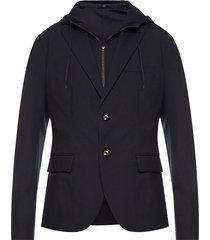 blazer with detachable hood