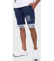 pantaloneta azul-blanco mlb