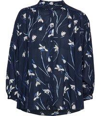 o2. snowdrop shirt blouse blus långärmad blå gant