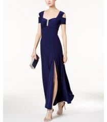 r & m richards cold-shoulder gown