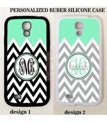 mint black white grey chevron monogram case for samsung galaxy s8 s7 s6 note 5 4