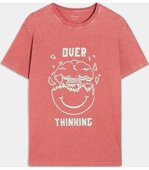 camiseta coral-verde seven seven