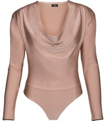 women's afrm levi bodysuit, size medium - brown