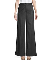 cashmere wide-leg trousers