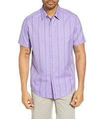 men's robert graham classic fit dyson cotton shirt, size medium - purple