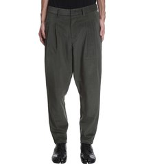 attachment pants in green polyester