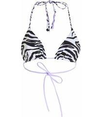 leah animal print bikini top