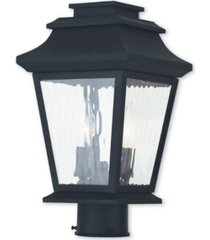 closeout! livex hathaway 2-light outdoor post lantern